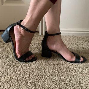 Madden Girl 2 inch heel black sandal